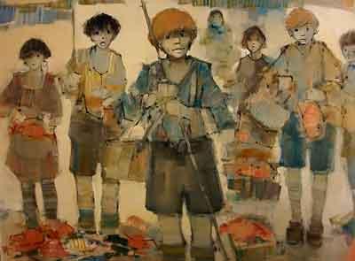 Enfants, pêche Lucien Delmas