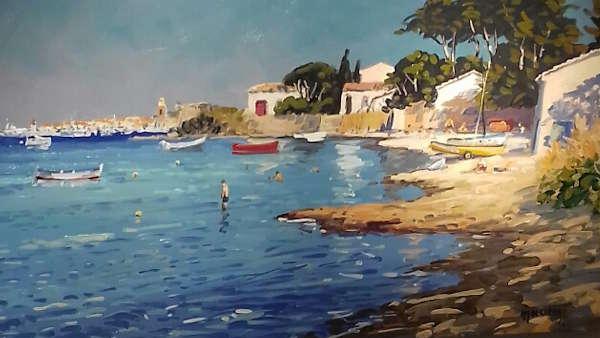 La plage à Saint-Tropez Michel Margueray