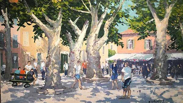 Joueurs de boules St Tropez Michel Margueray