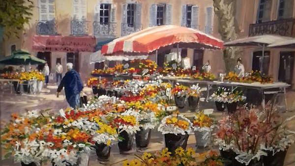 Marché à Aix-en-Provence Michel Margueray