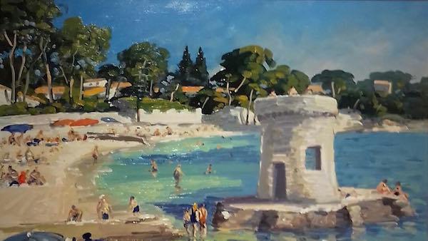 La plage des ondes Juan les Pins Michel Margueray